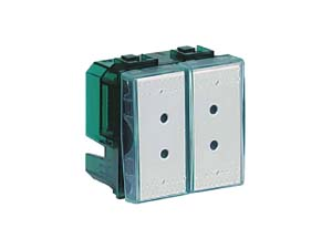 Блок сценариев N4681, 2 модуля, комплектуется прозрачными клавишами Kristall, и карточками с названием сценариев