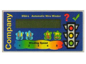 Текстовый дисплей LCD 2х20 символов + конфигурируемые кнопки.