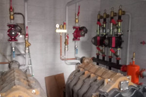 установка отопительного котла